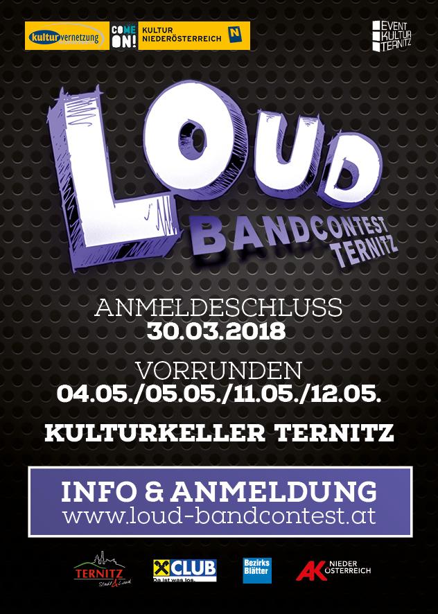 Ternitz sucht Nachwuchsbands für den L.O.U.D. Contest