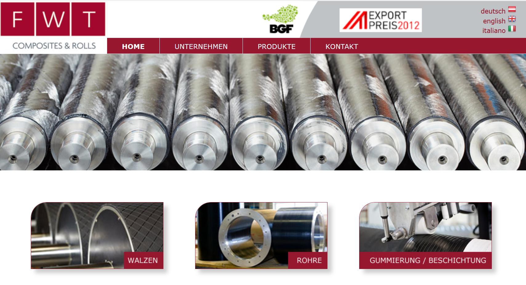 FWT Composites & Rolls GmbH exportiert 93 Prozent ihres neuen Walzenbezugs