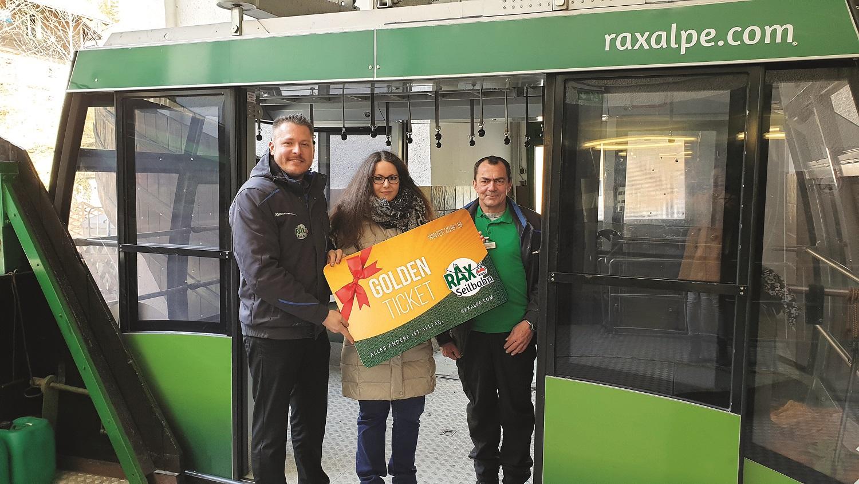 Badnerin gewann 'Golden Ticket' für die Raxseilbahn