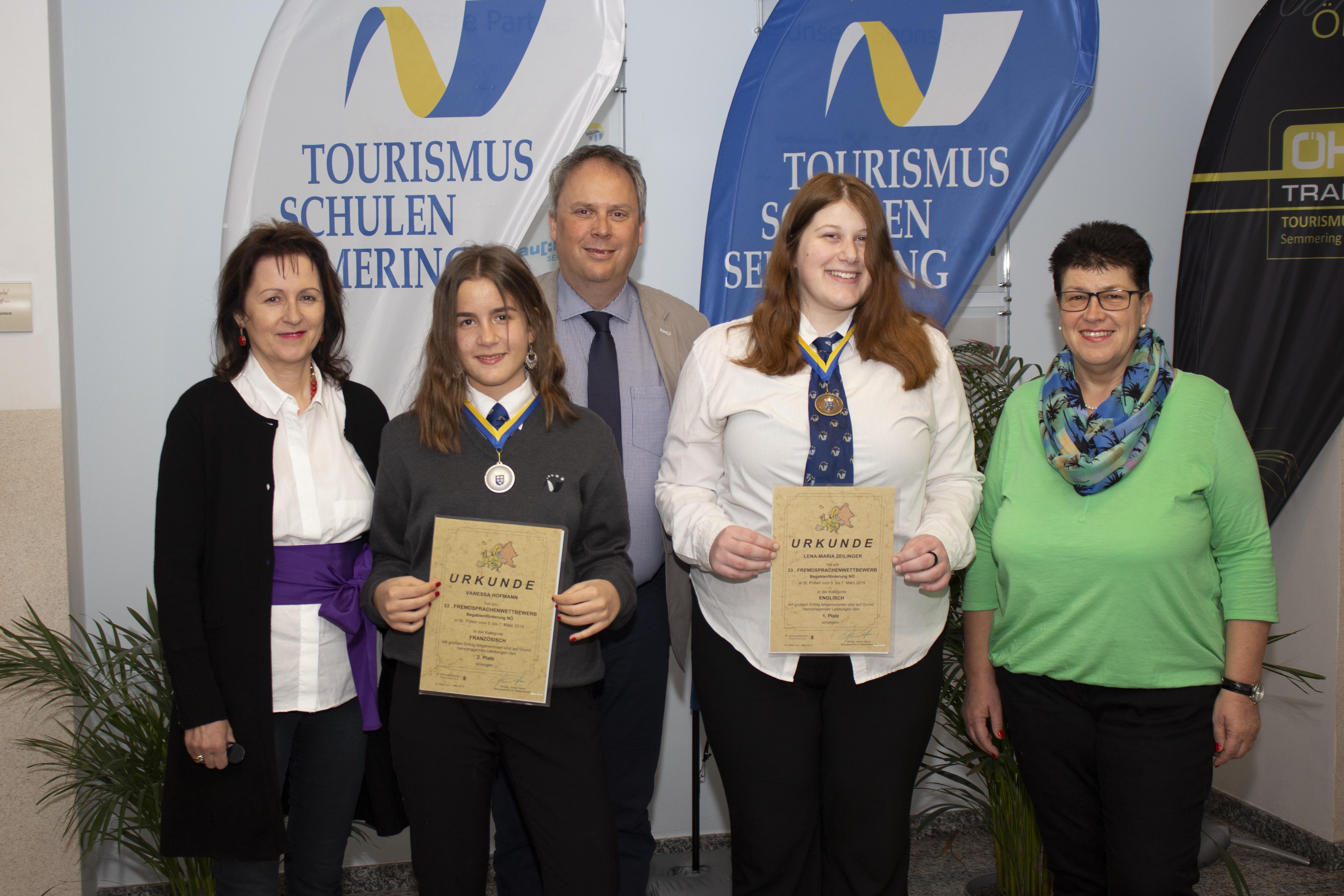 Gold und Silber bei Sprachwettbewerb für Semmeringer SchülerInnen