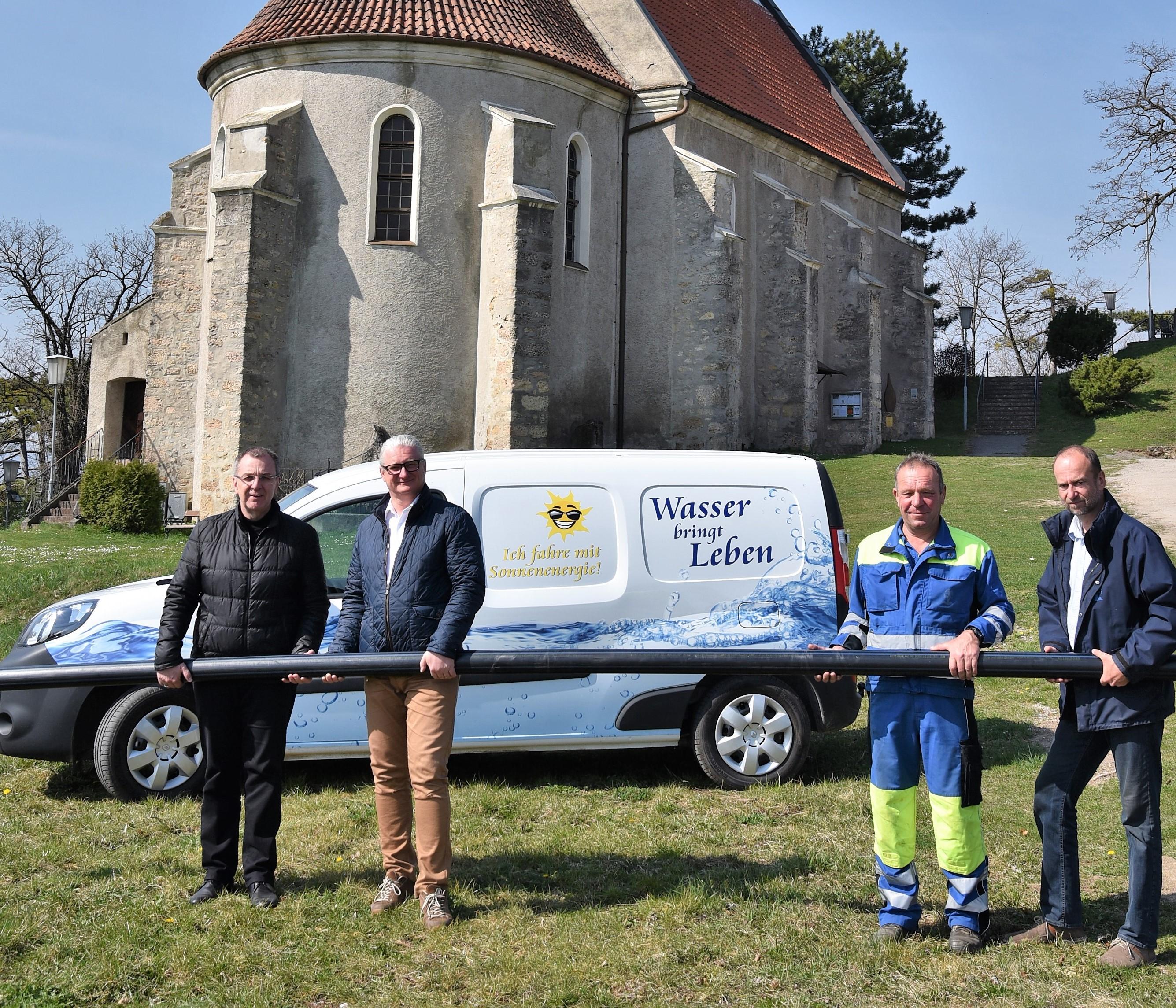 Wasserversorgung für den Petersberg wird jetzt erneuert