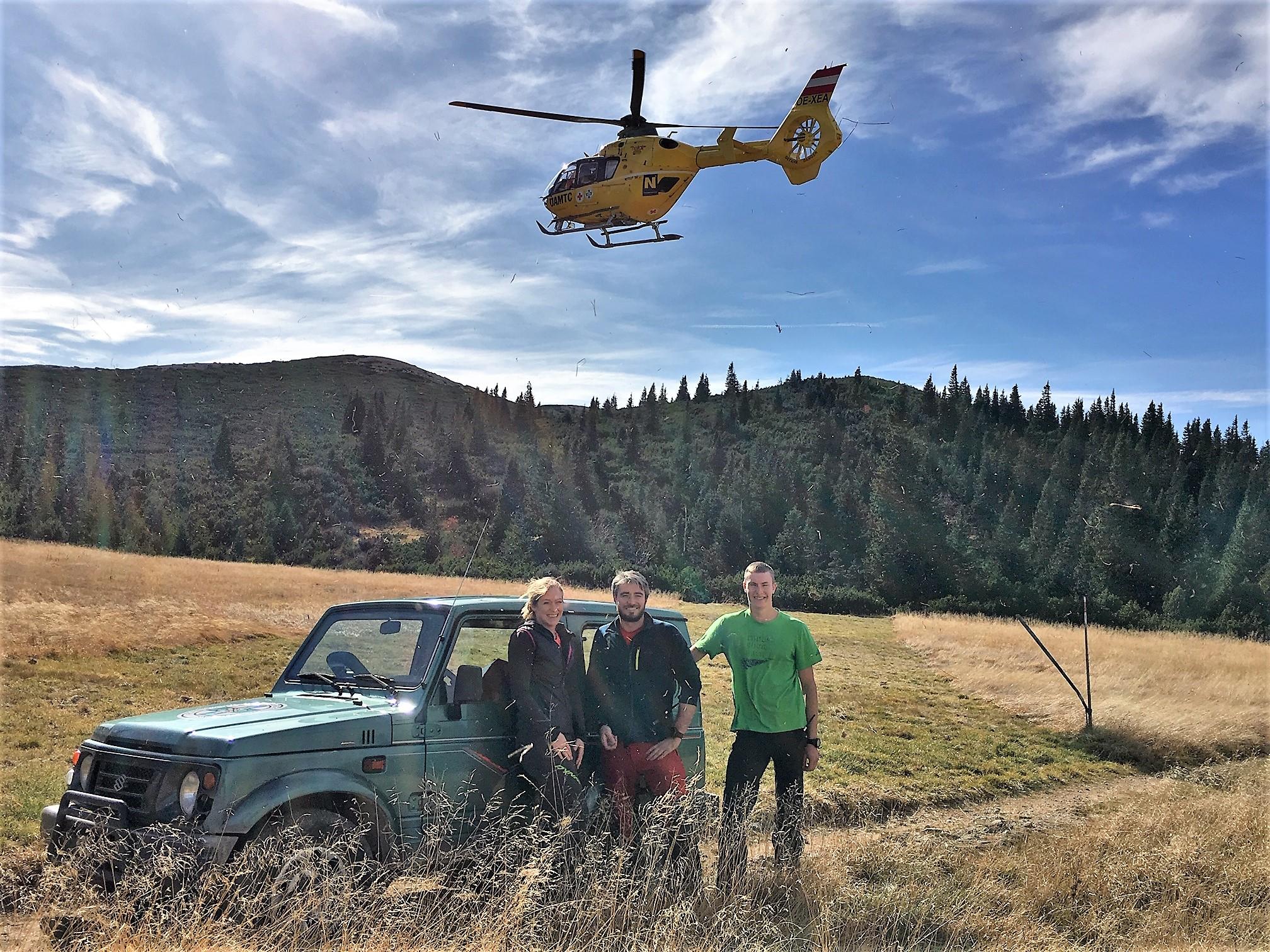 62-Jährige mit Hubschrauber vom Kronichgraben geborgen