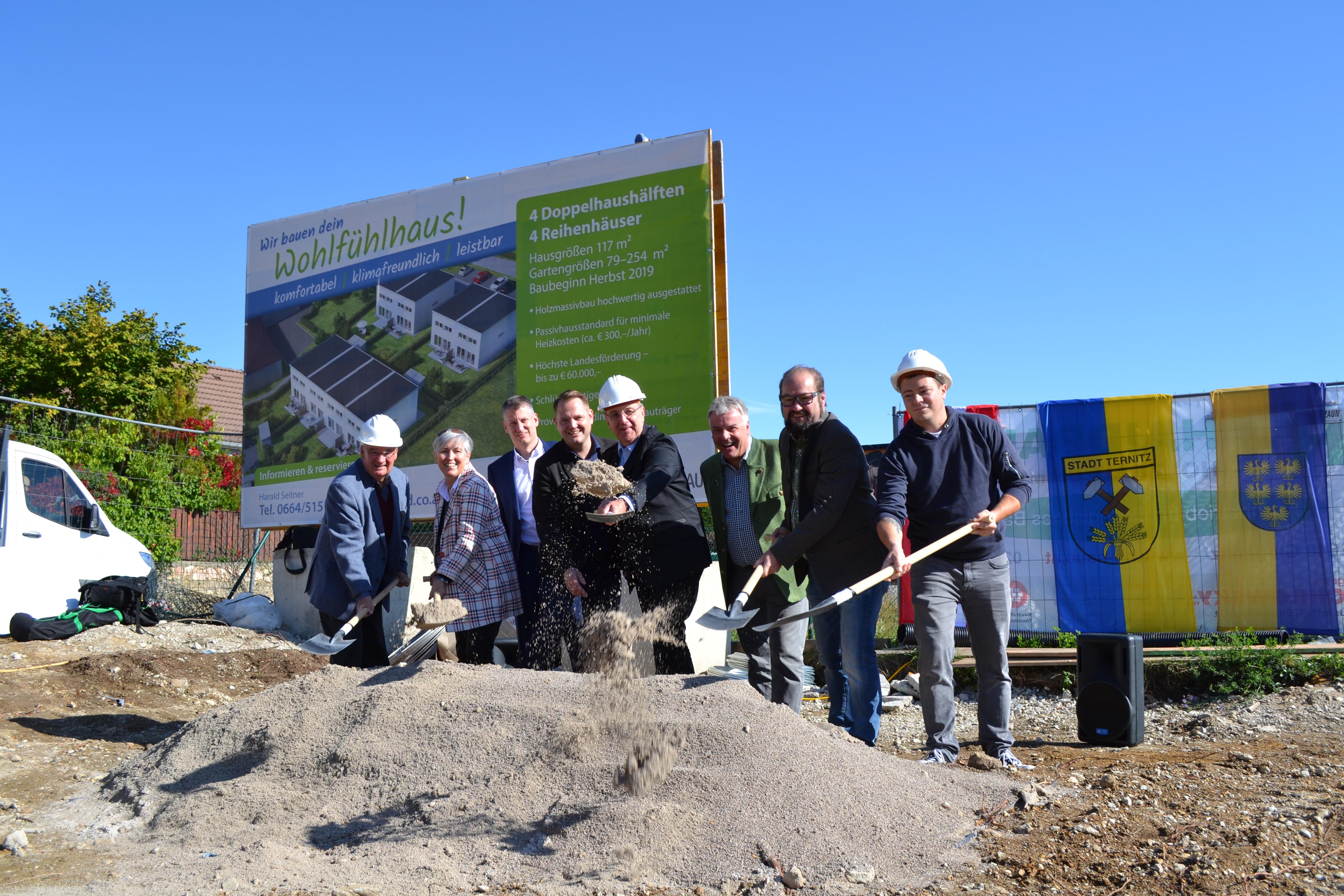 Spatenstich für neue Passivhaussiedlung in Ternitz