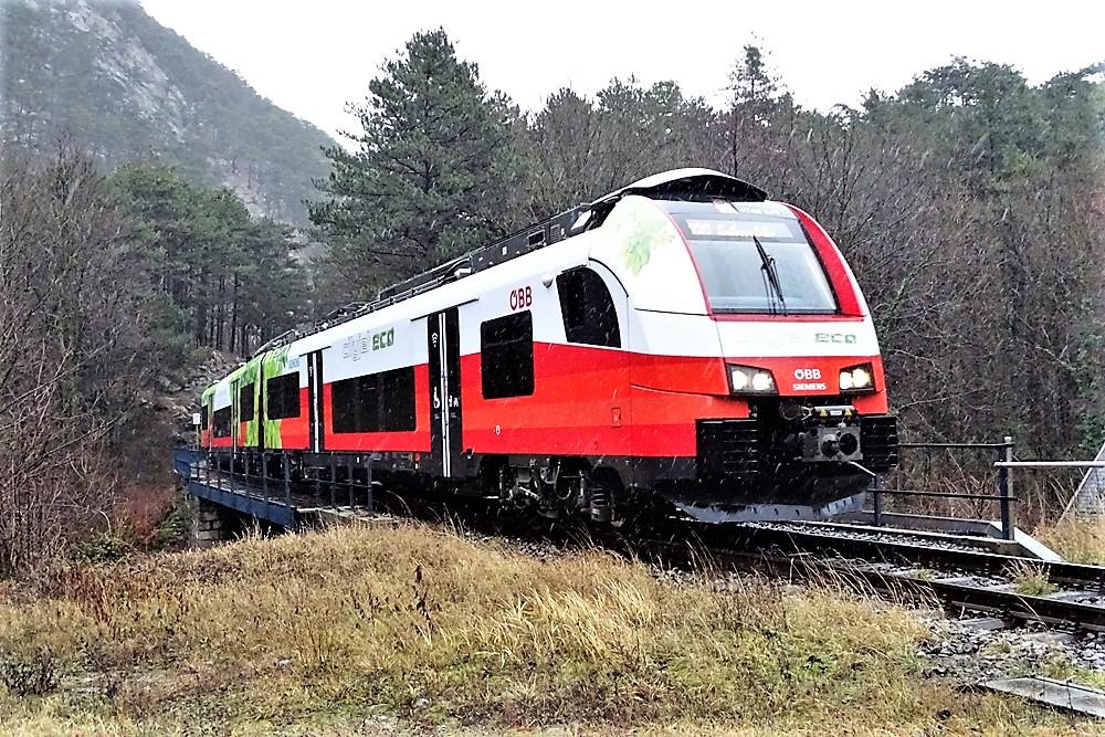 Mit Batteriebetrieb auf der Aspang- und Piestingtalbahn