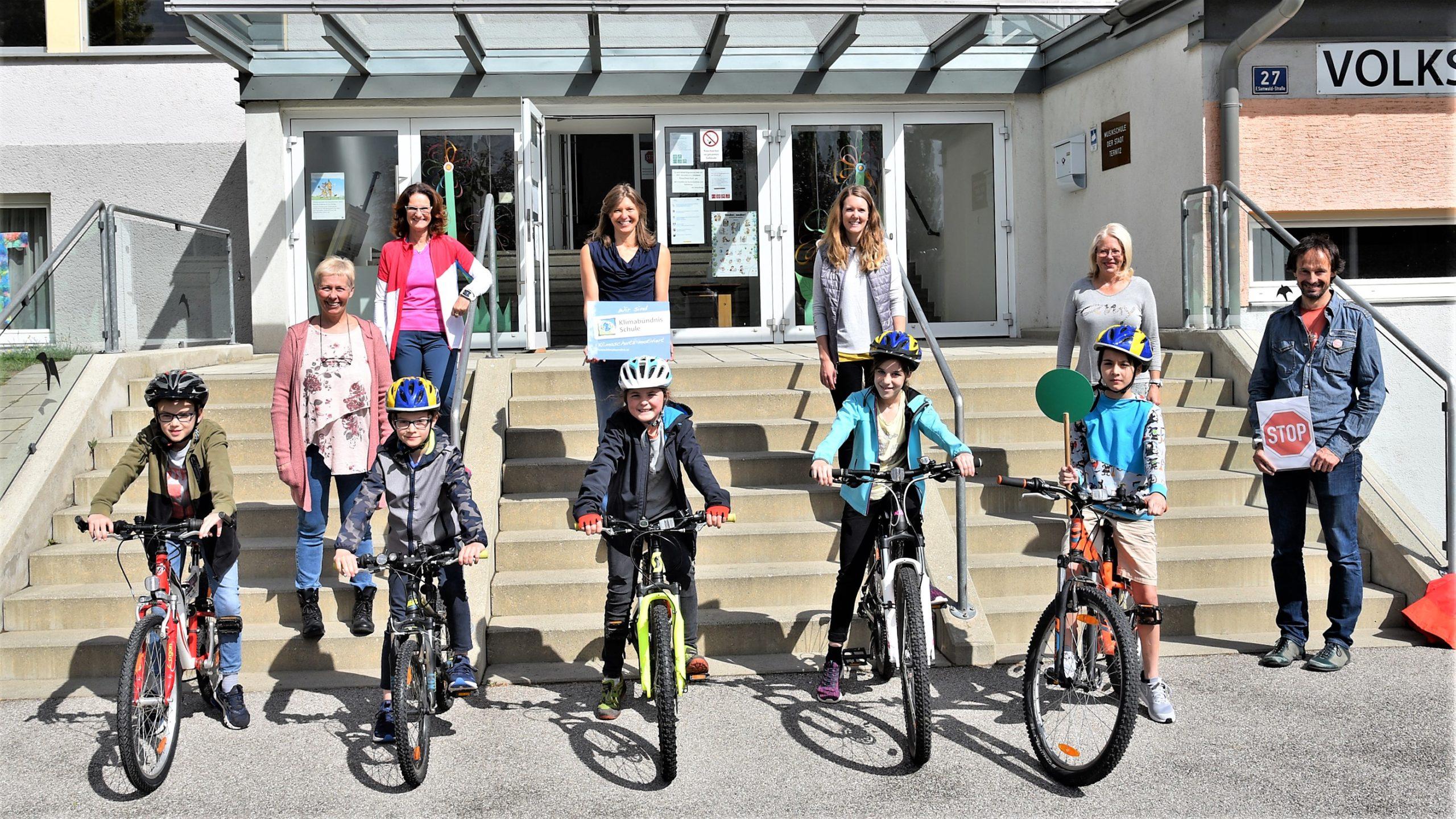 Viel Spaß bei der Fahrradprüfung in der Volksschule Pottschach