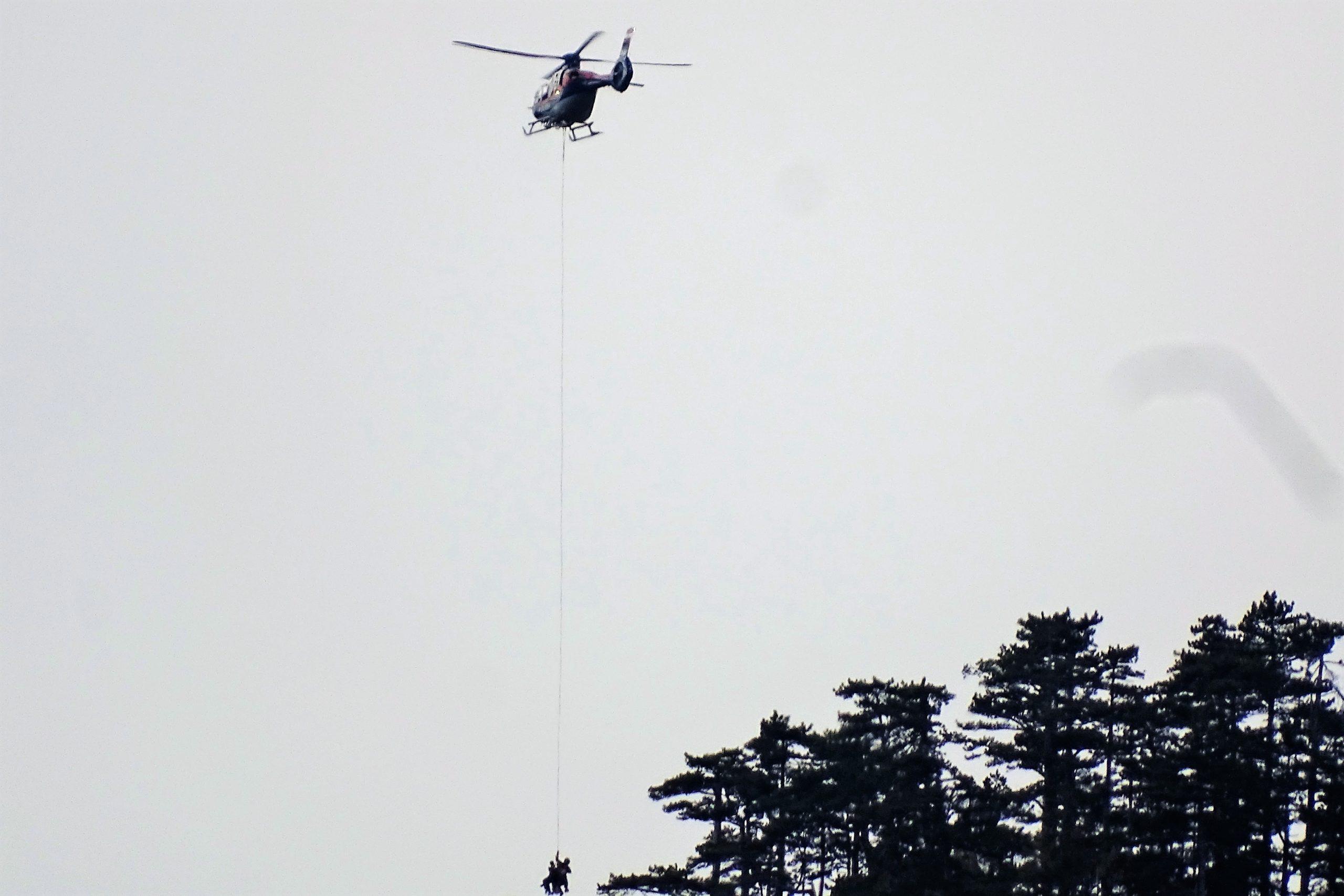 Verirrte Wanderer am Mittagstein per Helikopter geborgen