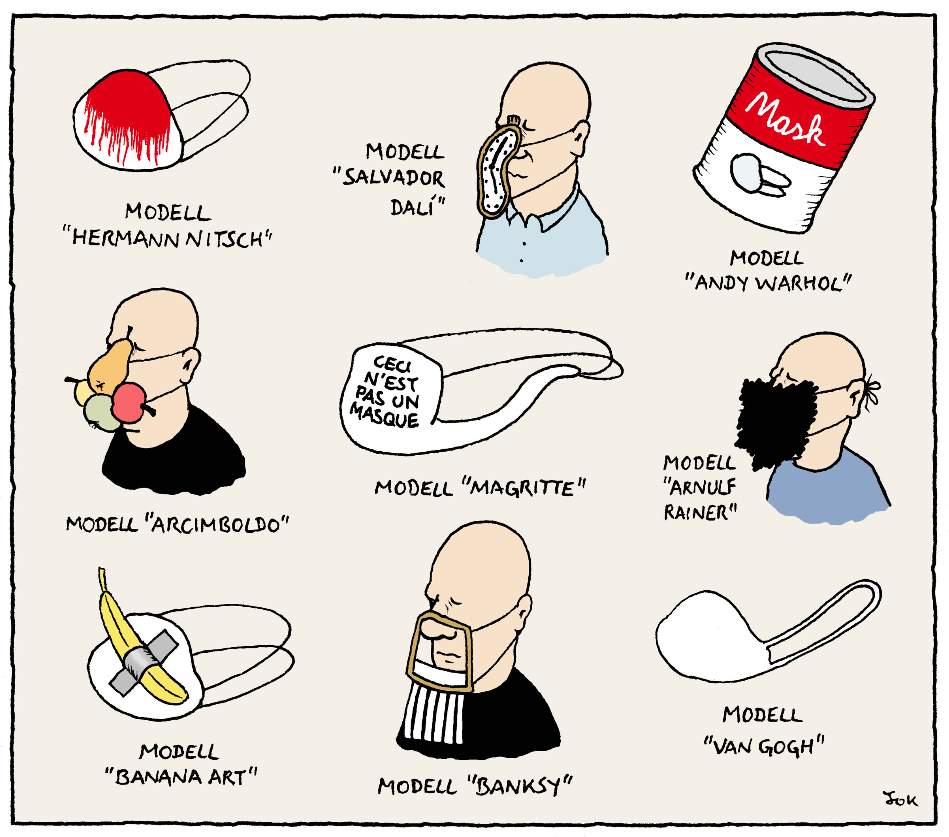 'Virale Cartoons' – die Ausstellung zur Pandemie im MuseumsQuartier in Wien