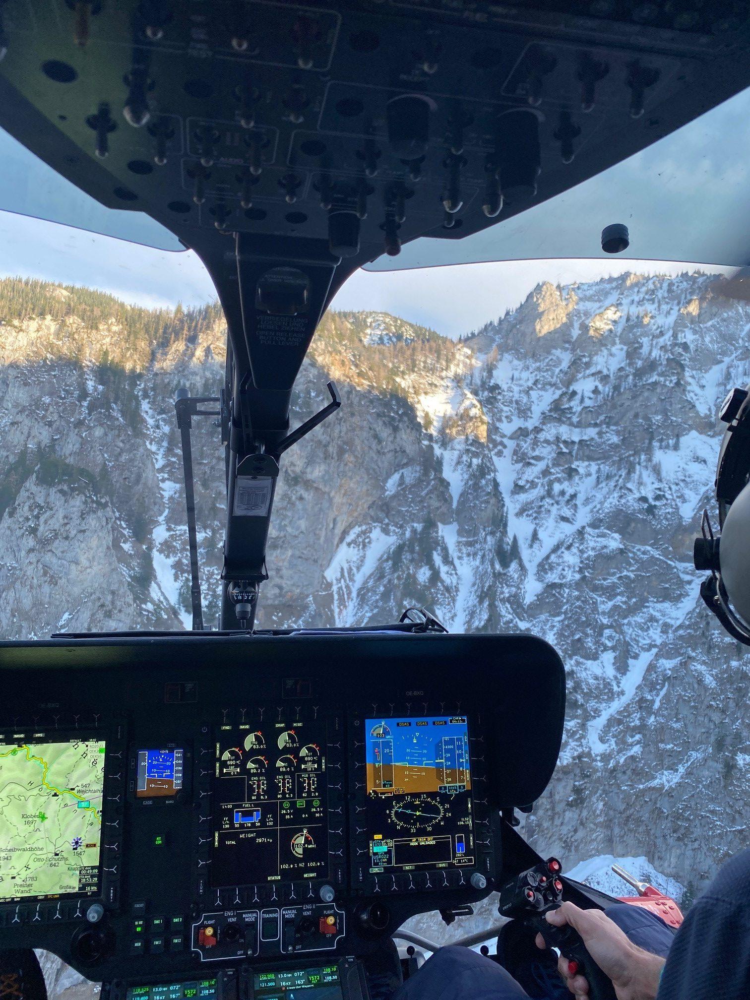 Trio in Bergnot: Team der Flugpolizei  holte  Wiener aus dem Alpenvereinssteig