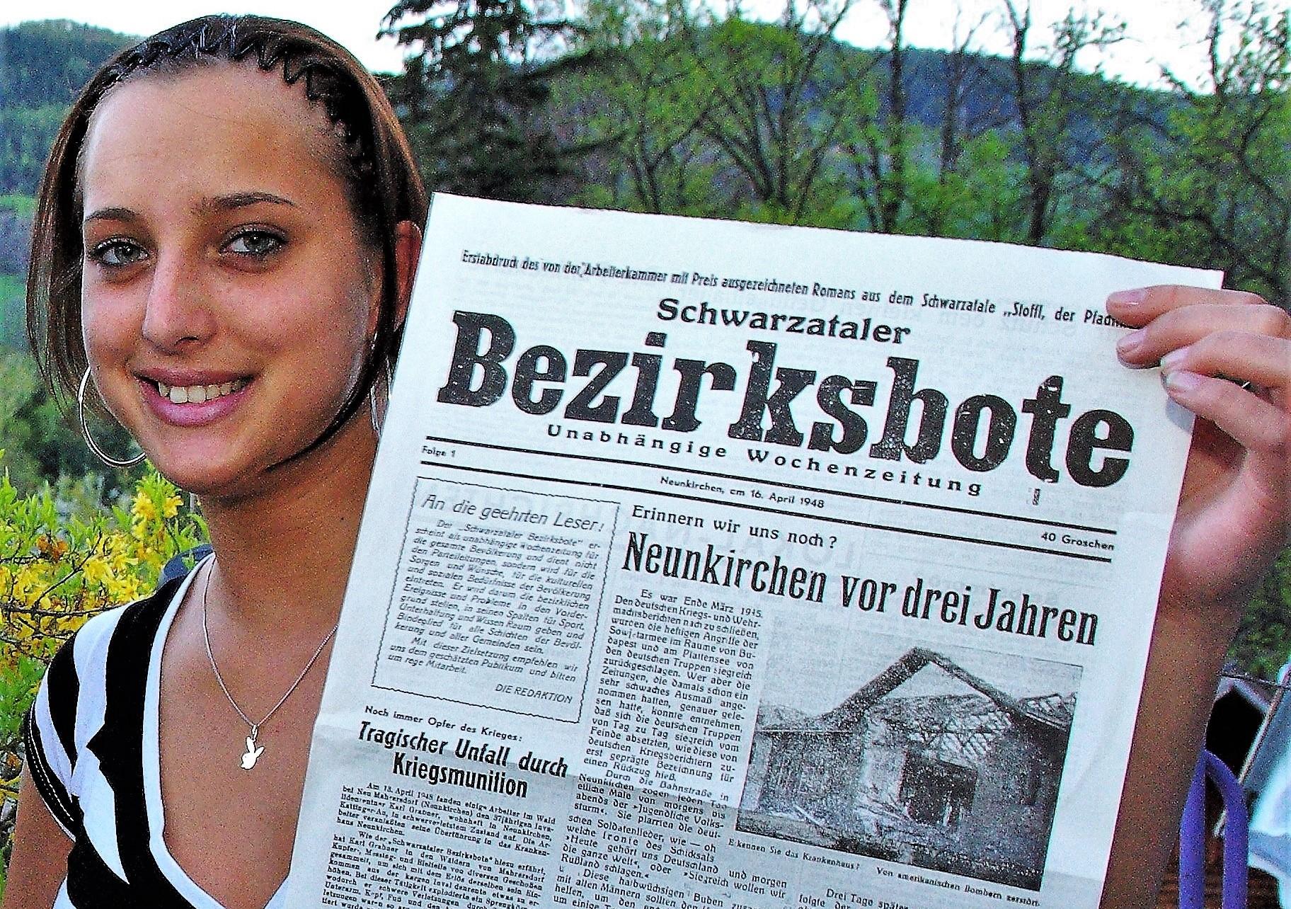 Vor 73 Jahren: Am 16. April 1948 erschien der erste Schwarzataler Bezirksbote