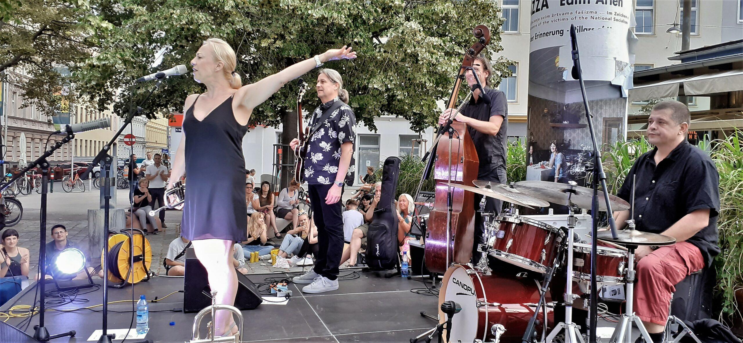 Michaela Rabitsch & Robert Pawlik Quartet servieren feinen Jazz gewürzt mit einer Prise World – Eintritt frei!