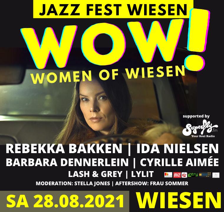 Jazz Fest Wiesen feiert 45- Jahre-Jubiläum mit geballter Frauenpower am 28. August beim 'WOW! Women of Wiesen'